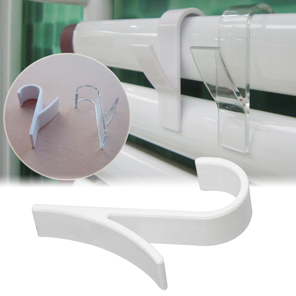 Y Shape Hook Towel Hanger For Heated Towel Rail Radiator Tubular Bath Hook Holder Storage Rack Bath Hook White Clear 1/2pcs 3