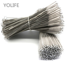 50/100Pcs Batch Straws brushes Reusable Metal brushes Wholesale Stainless Steel Eco-friendly brush 175mm for 6mm diameter straw