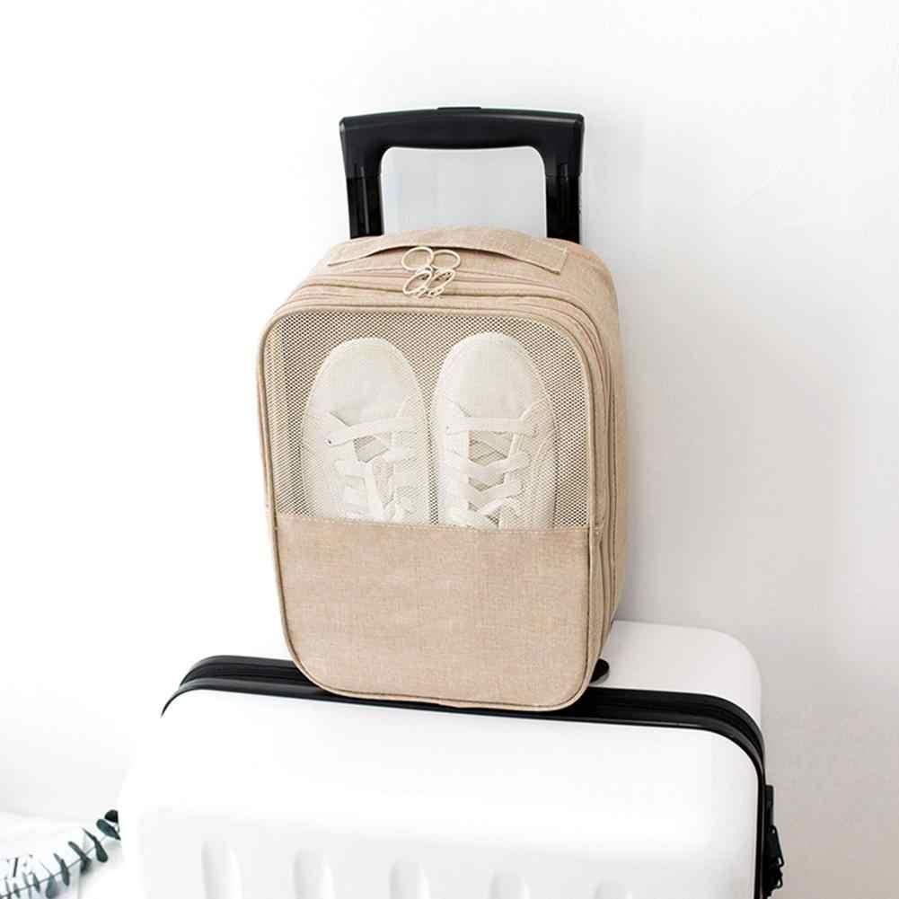 Sacos de sapatos portáteis roupa interior viagem organizador sutiã cosméticos maquiagem zíper bolsa de armazenamento em casa acessórios suprimentos material