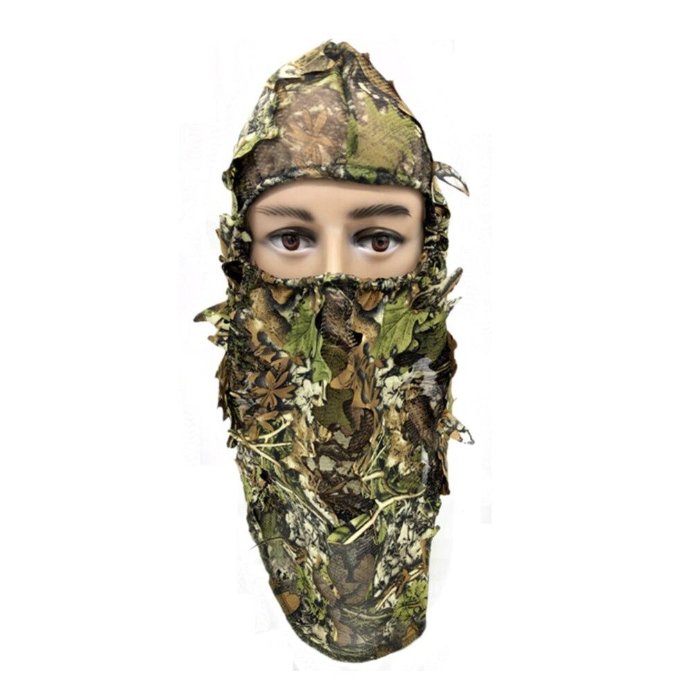 Militaire tactique Camouflage écharpe en plein air chasse pêche 3d masque Facial plein visage Jungle silencieux Camping hommes masque chapeau chapeau