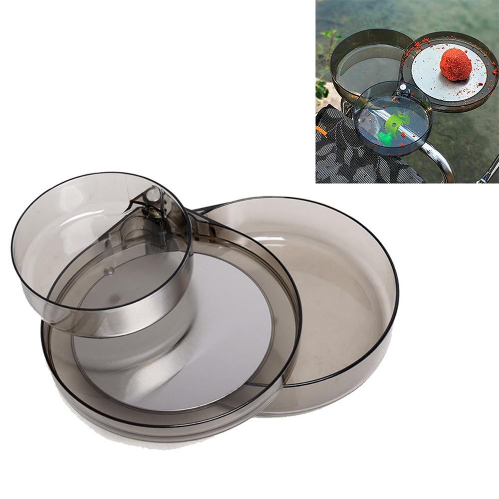 Transparent Full Magnetic Bait Tray Pull Bait Disk Strong Magnetic Tray Food Box Fishing Chair Camping Fishing Tool Accessories