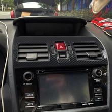Für Subaru WRX STi 2014-2019 Carbon Stil Mittleren Konsole Air Outlet Vent Rahmen Dekoration Aufkleber Abdeckung Trim Auto styling