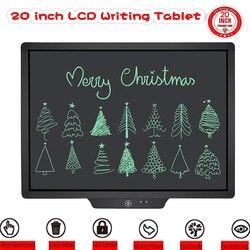 Tableta Digital de escritura LCD de 20 pulgadas con dibujo a mano para niños
