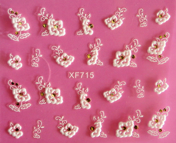 Manufacturers Direct Selling European Style Varved Nail Sticker Stereo Nail Sticker 3D Nail Sticker XF715