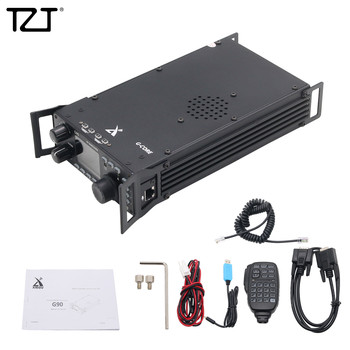 TZT Shortwave Radio Transceiver HF 20W SSB/CW/AM 0.5-30MHz w/ Built-in Antenna Tuner XIEGU G90