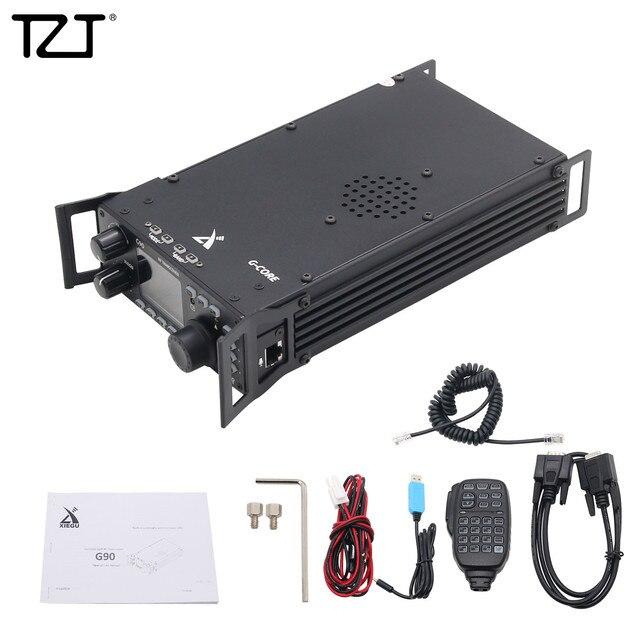 TZT Shortwave Radio Transceiver HF 20W SSB/CW/AM 0.5 30MHz w/ Built in Antenna Tuner XIEGU G90