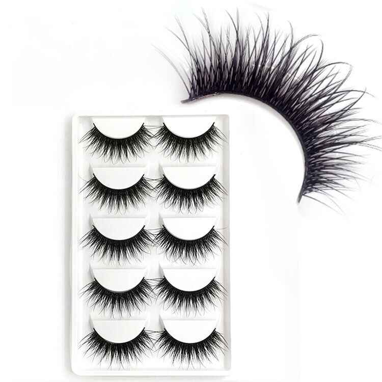 5 Pairs Natural False Eyelashes Fake Lashes Long Makeup Bigeye Mink Lashes Extension Eyelash 3dMink Lashes for beauty 2019 new