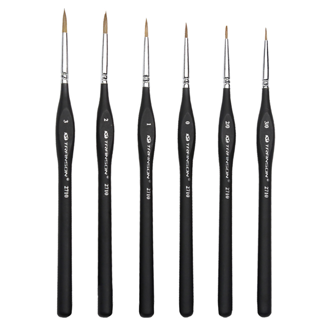 6Pcs Wolf Hair Miniature Paint Brushes Set For Fine Detailing And Rock Painting Models Numbers Supplies Model Building Tool