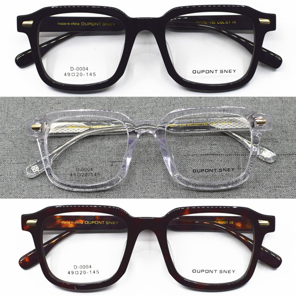 Vintage Acetate Full Rim Square Eyeglass Frames Men Women Rx Able Hand Made Glasses Top Quality