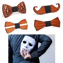 Модный деревянный галстук-бабочка для джентльмена, жениха, деревянный галстук-бабочка, свадебные галстуки-бабочки, деревянный галстук-бабочка для мужчин