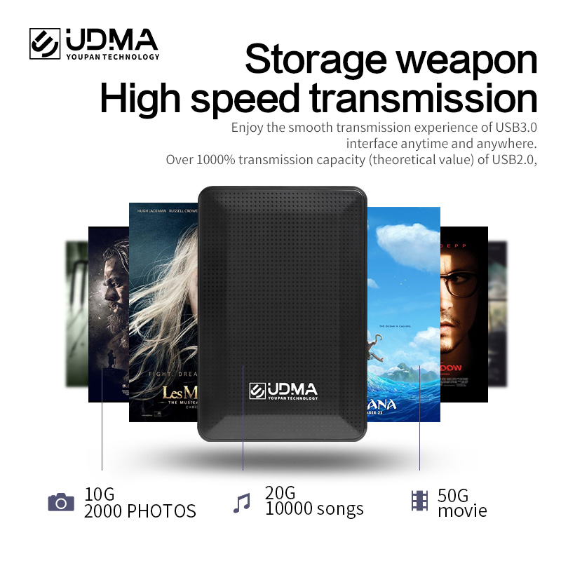 1TB External Hard Disk 80GB 120GB 160GB 250GB 320GB 500GB HDD Hard Disk Computer Mobile Hard Disk Photo Storage U Disk