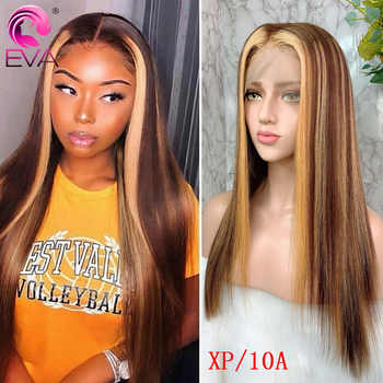 Eva 13x6 Ombre Lace Front Human Hair Wigs Pre Plucked With Baby Hair Colored Highlight Straight Lace Front Wigs Brazilian Remy - DISCOUNT ITEM  40% OFF All Category