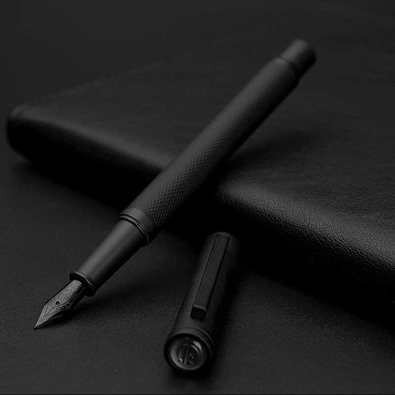 NEW Fountain Pen With Luxury Set 0.5mm Black F Nib Converter Pen Steel Ink Pens Simple Business Signing Pen Writing Pens
