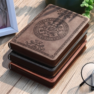 Portable Vintage Pattern PU Leather Notebook Diary Notepad Stationery Gift Traveler Journal