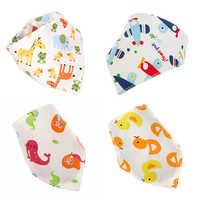 Cotton Bibs Infant Feeding Baby Kids Saliva Bib Washable Cute cartoon image Triangle towel Children boys girls Baby Scarf Towels