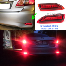 For Toyota Corolla 2011-2012 Lexus CT200h 2011-2013 LED Rear Bumper Lights stop Parking Brake light Tail lights taillights