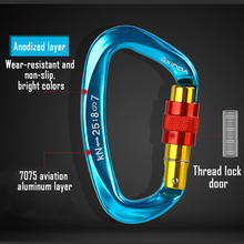 5 Color 1pc Screw Locking Gate Carabiner Heavy Duty D-shape Buckle Pack D-ring Carabiner Climbing  For Outdoor Camping набор для путешествий carabiner d cimbing edcgear se063