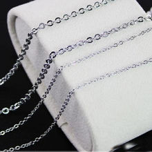 1.5/2/2.4/3mm 100pcs/Lot Mens Womens Stainless Steel Silver Cross Chain Necklace Finding Pendant DIY Wholesale Jewelry 16-40