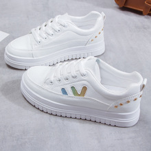 Spring/Autumn Brand Women Shoes Platform Sneakers Flats Fashion Casual Shoes Woman Solid Lace-Up Non-slip Luxury Ladies Shoes luxury 2019 flats shoes woman flat platform women casual shoes fashion sneakers lace up slip on breathable brand ladies shoes