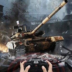 Image 4 - Tanque de batalla principal T90 de 2,4G con Control remoto, tanque con sonido y efecto de disparo de humo, Metal, edición definitiva, Rusia, 1:16