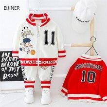 цена на 2020 New Spring Baby Boys Tracksuit Kids Long Sleeve Top Leisure Streamers Pants 2pcs Children Clothing Infant Sets Sport Suits