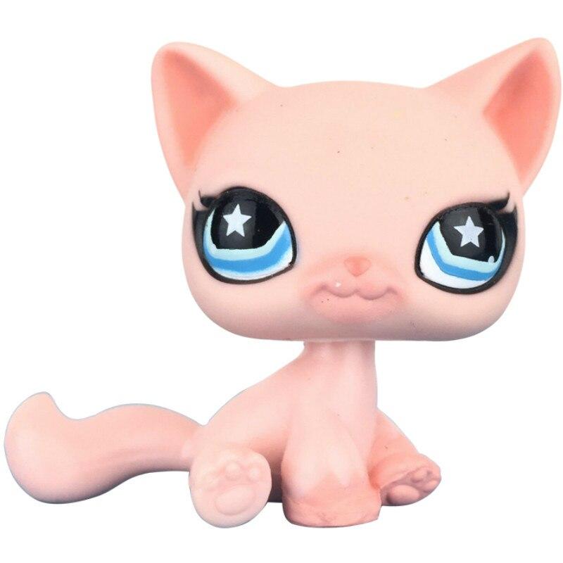Лпс стоячки кошки Игрушки для кошек lps, редкие подставки, маленькие короткие волосы, котенок, розовый#2291, серый#5, черный#994,, коллекция фигурок для питомцев - Цвет: 959