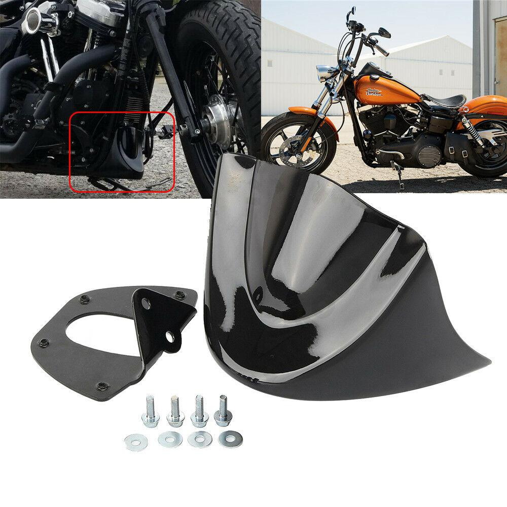 HiMISS Motorcycle Glossy Mudguard Cover Air Dam Fairing For Harley Dyna Fat Bob FXDL 2006-2017