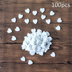 White Heart Small Wood 100 pac