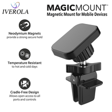 Univerola Car Phone Holder Magnetic Air Vent Universal Mobile Smartphone Stand Cell For Iphone 11/11