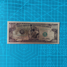 10pcs/set Statue of Liberty 1 Million Dollar Bill Banknotes in 24K Gold Fake Paper Money for Home Collection Banknote Sets недорого