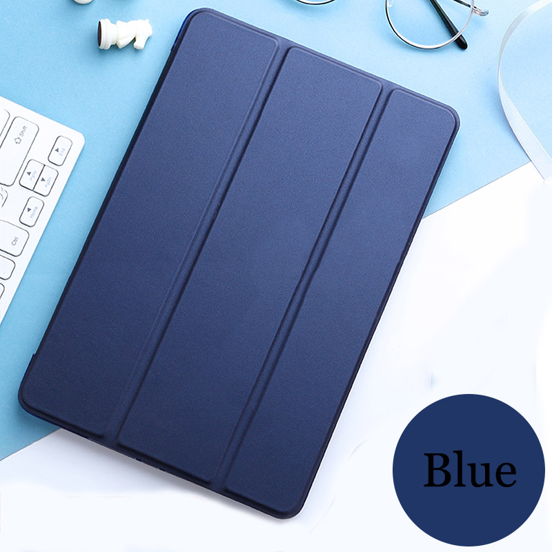 Navy blue Blue Tablet case for Apple ipad pro 11 2020 cover Smart Sleep wake Stand Three fold solid