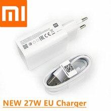 オリジナル xiaomi 27 ワット急速充電器 qc 4.0 eu 高速充電アダプタ mi 9 9se 9 t 10 プロミックス 3 s redmi 注 7 8 9 プロ 9s K20 30 プロ