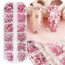 Hot Nail Art Jewelry Nail Decoration Ins12 Grid Love Star Resin Shaped Glass Diamond Nail Sticker Diamond Nails 3d Charms