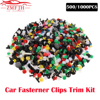 500pcs/1000pcs Mixed Car Clips Door Trim Panel Clip Fastener Rivets Pins Fender Fastener Clips Fit for All Car Bumper Fastener image