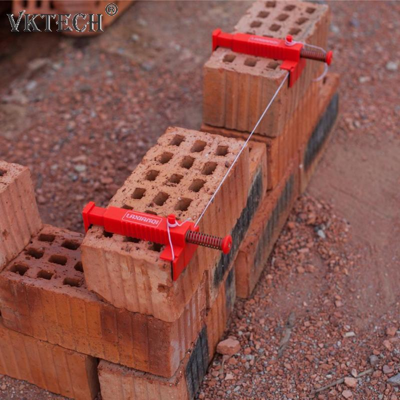 2pcs Wire Drawer Bricklaying Tool Fixer For Building Construction Fixture Brick Liner Wall Builder Building Wire Frame