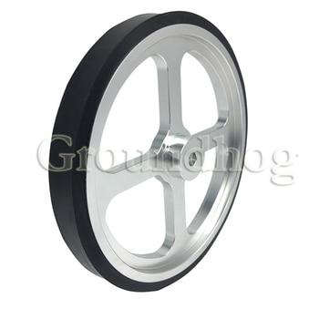 Aluminum Encoder Meter Wheel Synchronous Wheel OVW Length Measuring Rubber Wheel Perimeter 500mm Hole 6 8 10 12 15mm