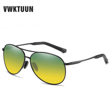 VWKTUUN Polarized Sunglasses Men Pilot Sun Glasses Sport Driving Fishing Mens Day Night Vision Shade Vintage glasses