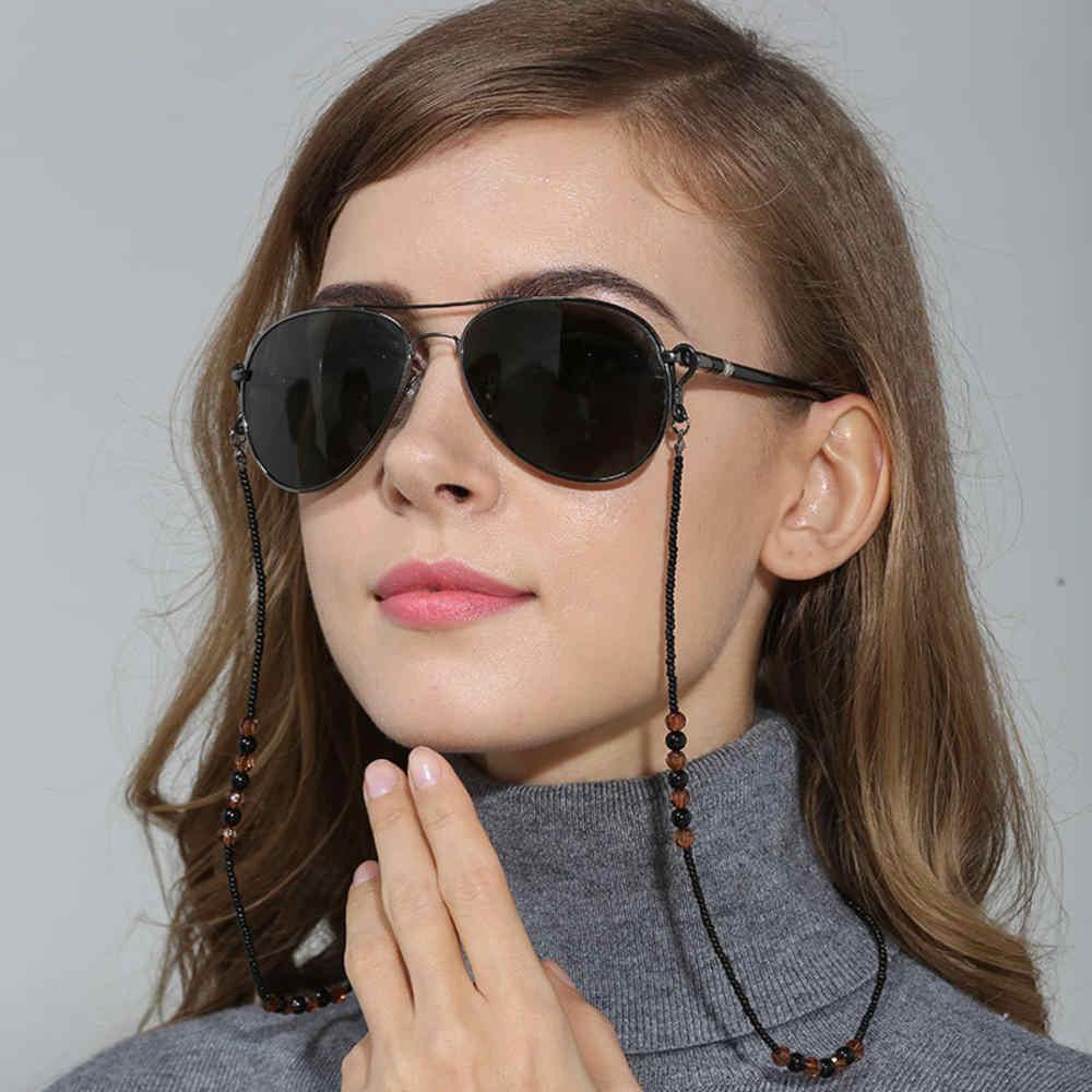 Handmade Retro Retro Black & BROWN ลูกปัดแว่นตาโซ่ลูกปัดแว่นตากันแดดแว่นตา Lanyard CORD ผู้ถือแว่นตาเชือกใหม่มาถึง