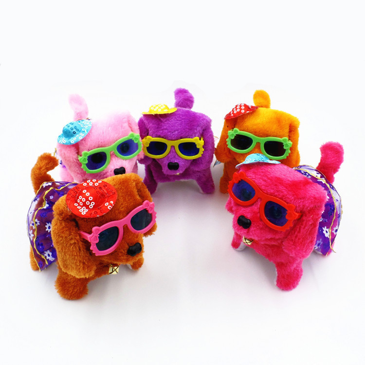 Electric Plush Toy Dog Back Will Call Shining Forward Dao Tui Gou Children's Stall Selling Toy Supply