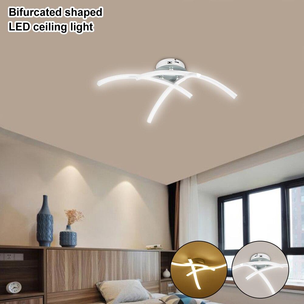 Необычный светодиодный потолочный светильник со встроенными вилками 21 Вт 3000 К белый/теплый белый домашний светильник для гостиной и спальни