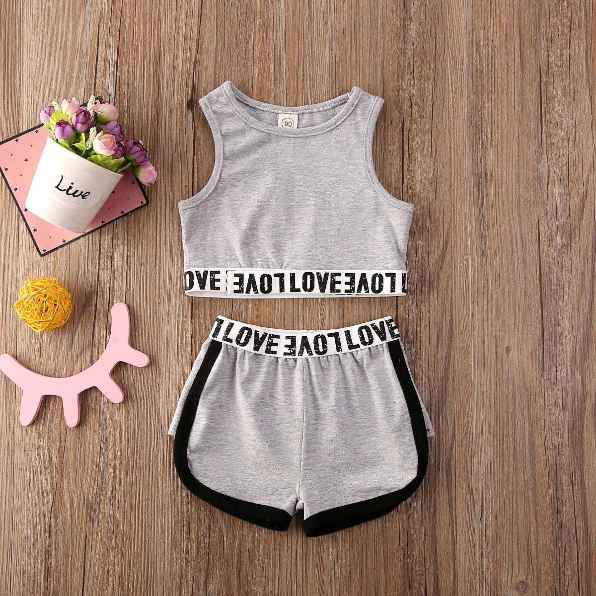 Pudcoco Toddler Baby Girl Clothes Solid Color Sleeveless Crop Tops Short Pants 2Pcs Outfits Cotton Clothes