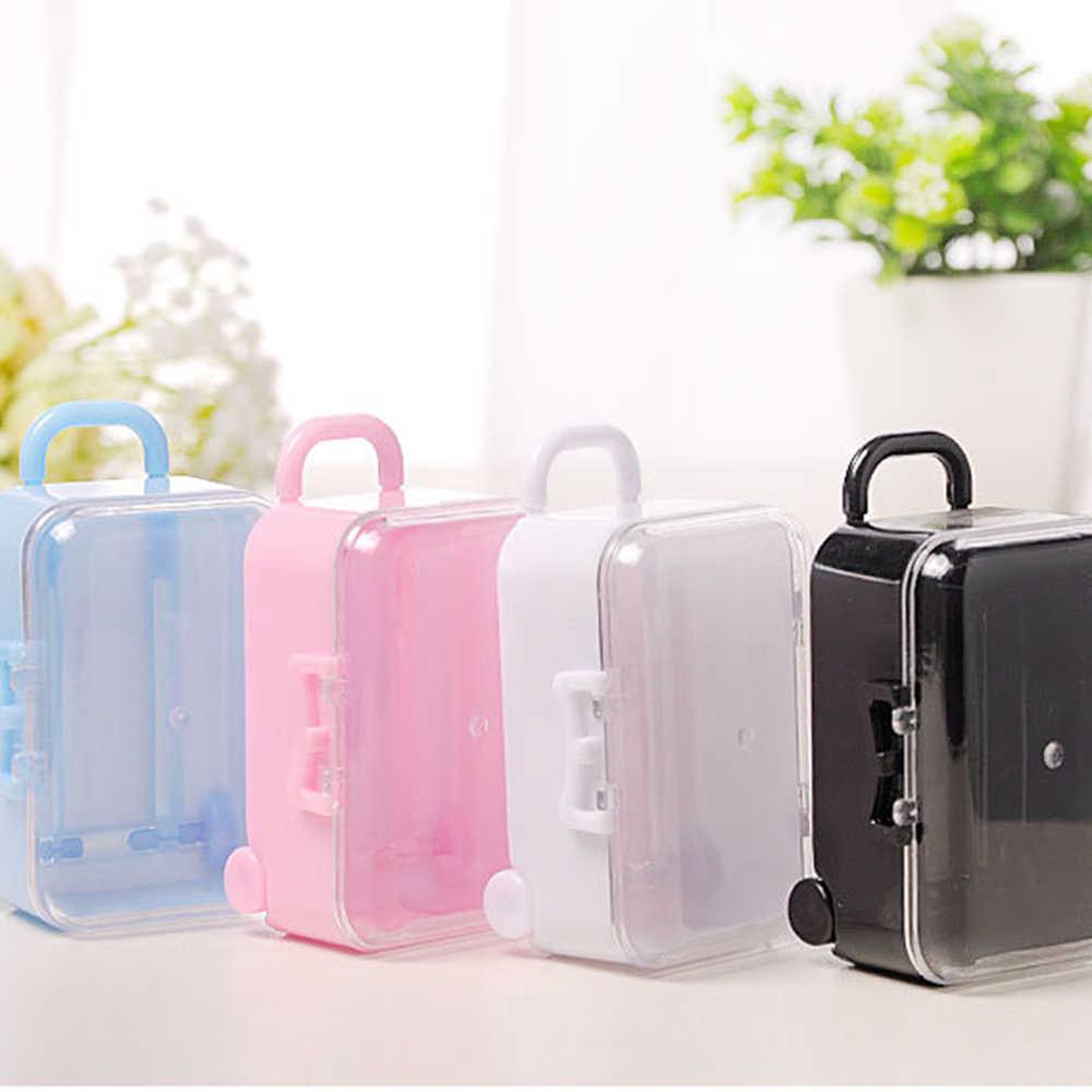 12pcs/set Mini Travel Luggage Suitcase Design Candy Box Wedding Gift Box Creative Candy Box Toy Small Storage Box 7.5*5*3.5CM