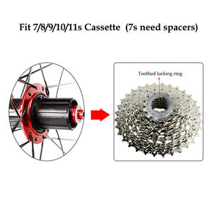"Image 4 - RXR Carbon Hub MTB Wheelset 26/27.5/29"" Mountain Bike Disc Brake 5 Bearings Bicycle Wheel Sets 7 11Speed Thru Axle/QR MTB Wheels"