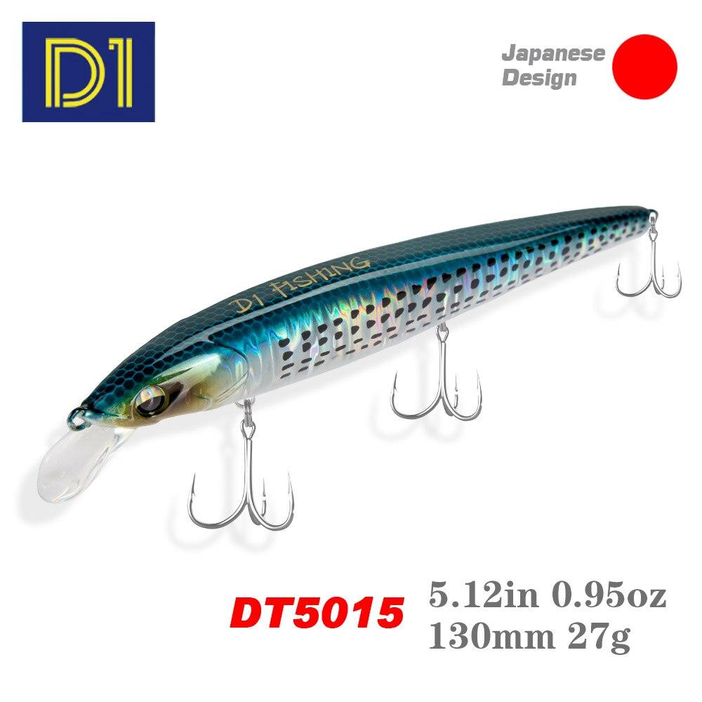 D1 Minnow приманки для EJA 130 пуля опускается на дно 27g Морская рыбалка твердый воблер глубины 40-70 см заброса Джеркбейт 2021 pescar рыболовные снасти