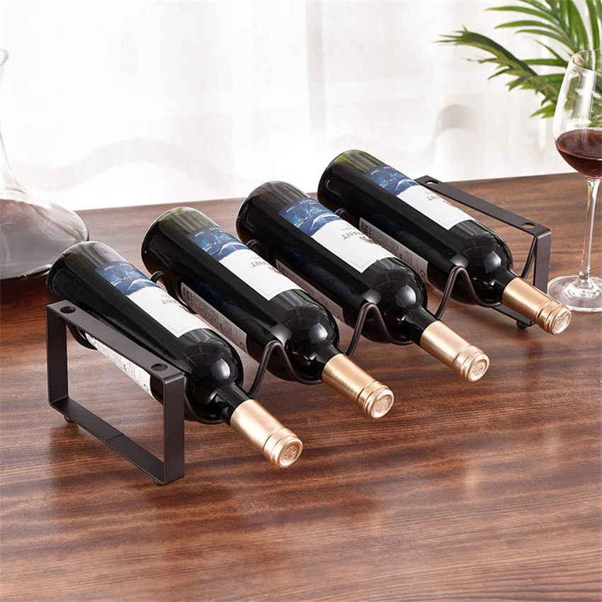 1 Chiếc Lớp Đồng Hồ Nam Sắt Đỏ Giá Để Rượu Vang Thanh Trang Trí Rượu Kệ Xếp Chồng Nhiều Bình Châu Âu Tủ Rượu Màn Hình Hiển Thị chân Đế