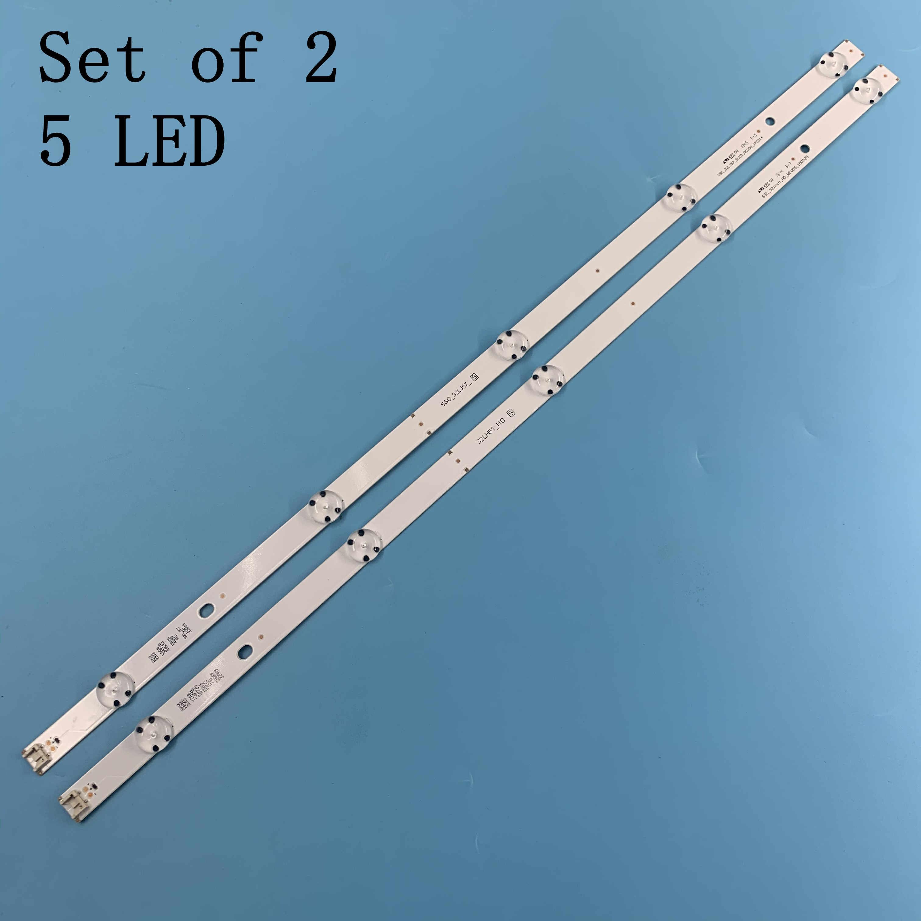 2pcs LED רצועת SSC_32inch_HD_REV05_150925 32LH51_HD עבור LG 32LF510U 32LH570B 32LH51_HD 32LF510U 32LH590U 32LH570B