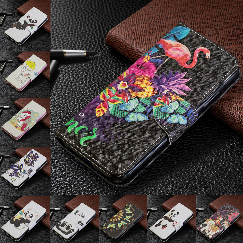 Leather Flip wallet Case For <font><b>Samsung</b></font> A50S A70s A10E A20E A10S A20S A30S A10 A20 A30 A40 A50 <font><b>A70</b></font> flower elephant Phone case cover image