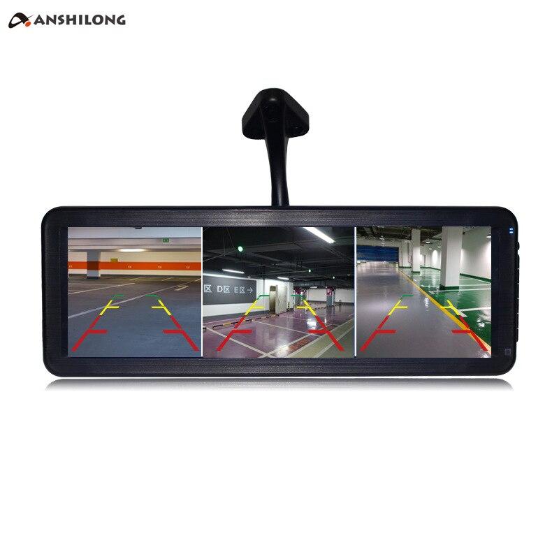 Зеркало заднего вида, 3 канала, 12,2 дюйма, HDMI, MP5 плеер, разрешение 1024x310, может одновременно отображать 3 камеры