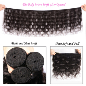 Image 5 - Brazilian Body Wave Human Hair with Closure Remy Hair 4*4 Swiss Lace Closure with Hair Weave Ali Julia 3 Bundles with Closure