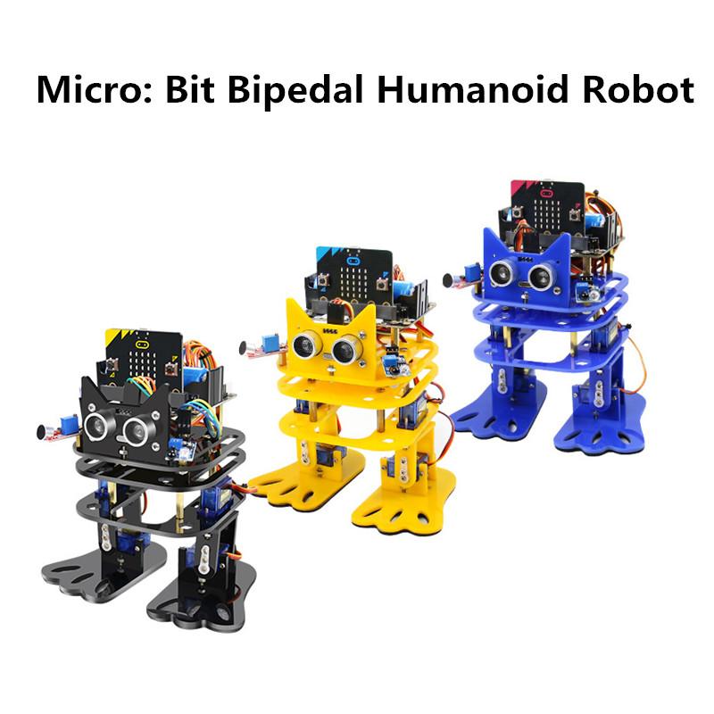 Micro: Bit Programmable Dancing DIY Robot Bipedal Humanoid Servo Microbit Robot Programming Starter Kit For Children Learning